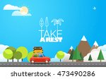 take vacation travelling... | Shutterstock .eps vector #473490286