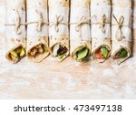 Tortilla Wraps With Various...