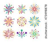 festive firework bursting shape ... | Shutterstock .eps vector #473498878