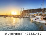 marina of puerto de mogan at... | Shutterstock . vector #473531452