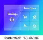 transparent mobile app vector...