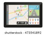 gps navigation device and city... | Shutterstock .eps vector #473541892