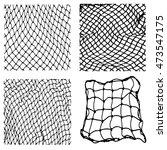 net pattern. rope net vector... | Shutterstock .eps vector #473547175
