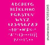 alphabet vector hand drawn with ...   Shutterstock .eps vector #473551045