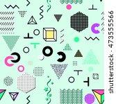 trendy geometric elements... | Shutterstock .eps vector #473555566