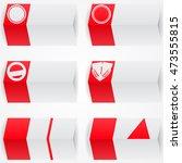 folded paper background.... | Shutterstock .eps vector #473555815