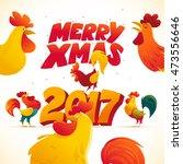 vector new year congratulation...   Shutterstock .eps vector #473556646