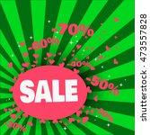 sale banner design. vector... | Shutterstock .eps vector #473557828