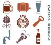 beer icon set with beer bottle  ... | Shutterstock .eps vector #473581936