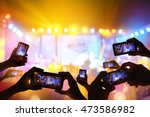 silhouette of hands using... | Shutterstock . vector #473586982