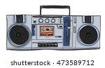 vector stereo boombox radio...