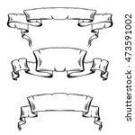set of vintage ancient scrolls... | Shutterstock .eps vector #473591002
