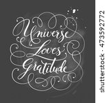 hand drawn calligraphy... | Shutterstock .eps vector #473592772