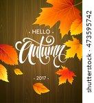 hello  autumn. trendy... | Shutterstock .eps vector #473595742