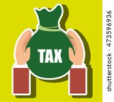bag money tax vector...
