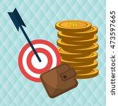 target money cash vector... | Shutterstock .eps vector #473597665