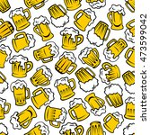 Beer Beverages Retro Cartoon...