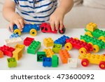 close up of child's hands... | Shutterstock . vector #473600092