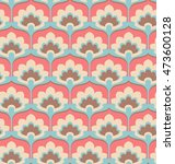 seamless vintage flower pattern | Shutterstock .eps vector #473600128