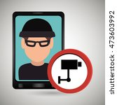 man smartphone thief secure... | Shutterstock .eps vector #473603992