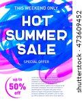 hot summer sale banner template | Shutterstock .eps vector #473609452