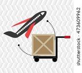 car hand box cargo vector... | Shutterstock .eps vector #473609962