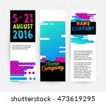 banners set  abstract liquid... | Shutterstock .eps vector #473619295