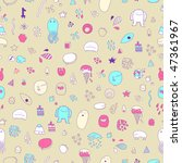 seamless pattern of doodles in... | Shutterstock .eps vector #47361967