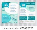 retro radio symbol on vector... | Shutterstock .eps vector #473619895