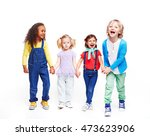 happy children | Shutterstock . vector #473623906