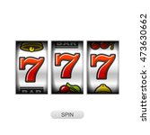slot machine with lucky sevens... | Shutterstock .eps vector #473630662