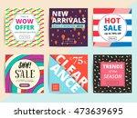 set of creative social media... | Shutterstock .eps vector #473639695