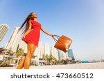 beautiful young woman enjoying... | Shutterstock . vector #473660512