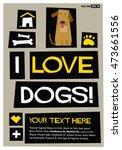 i love dogs   flat style vector ...   Shutterstock .eps vector #473661556