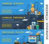 garbage recycling flat... | Shutterstock . vector #473663368
