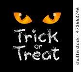 trick or treat text design with ... | Shutterstock .eps vector #473663746