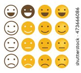 smile emotions icons vector ... | Shutterstock .eps vector #473666086