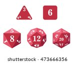 set of red dice. | Shutterstock .eps vector #473666356