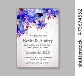 wedding invitation template... | Shutterstock .eps vector #473674552