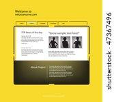 web site design template ... | Shutterstock .eps vector #47367496