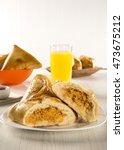 brazilian snack. chicken esfiha ... | Shutterstock . vector #473675212
