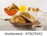 brazilian snack. chicken esfiha ... | Shutterstock . vector #473675242