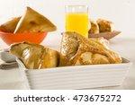 brazilian snack. chicken esfiha ... | Shutterstock . vector #473675272