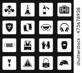 individual protection icons set ... | Shutterstock .eps vector #473678938