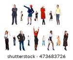 team over white line of... | Shutterstock . vector #473683726