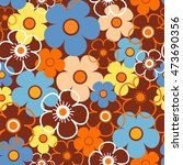 Seamless Abstract Floral...