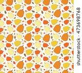 vector pumpkins autumn seamless ...   Shutterstock .eps vector #473698768