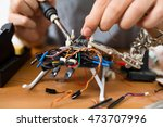 welding on drone | Shutterstock . vector #473707996