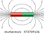 magnetic field of an ideal... | Shutterstock .eps vector #473709136