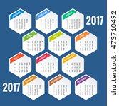 2017 calendar  print template... | Shutterstock .eps vector #473710492